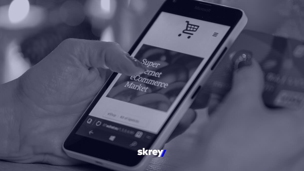 e-commerce em pequenos e médios ecrãs